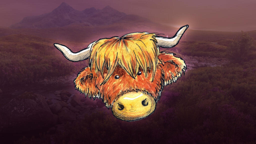 Register a .scot domain and get the Wee Calf half price for the first year